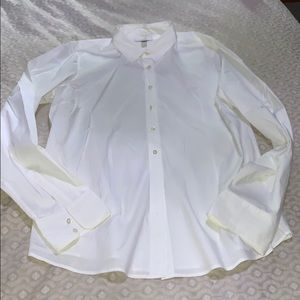 J.Crew ladies white Tall xl shirt